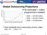 global outsourcing projections