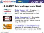 i t united acknowledgements 2006