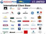 international client base