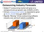 outsourcing industry forecasts