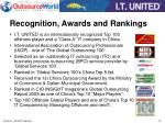 recognition awards and rankings