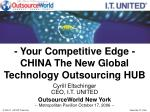 your competitive edge china the new global technology outsourcing hub