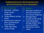 perbandingan bioteknologi konvensional dan modern