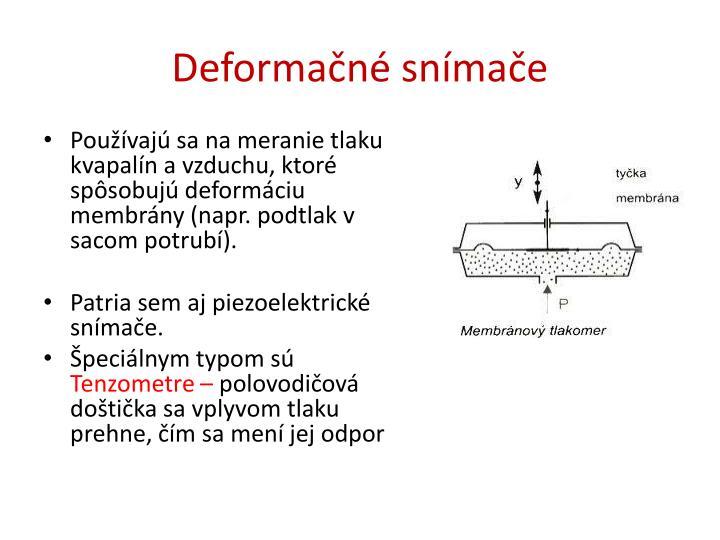 Deformačné snímače