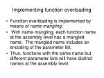 implementing function overloading