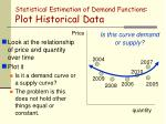 statistical estimation of demand functions plot historical data