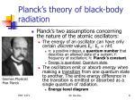 planck s theory of black body radiation