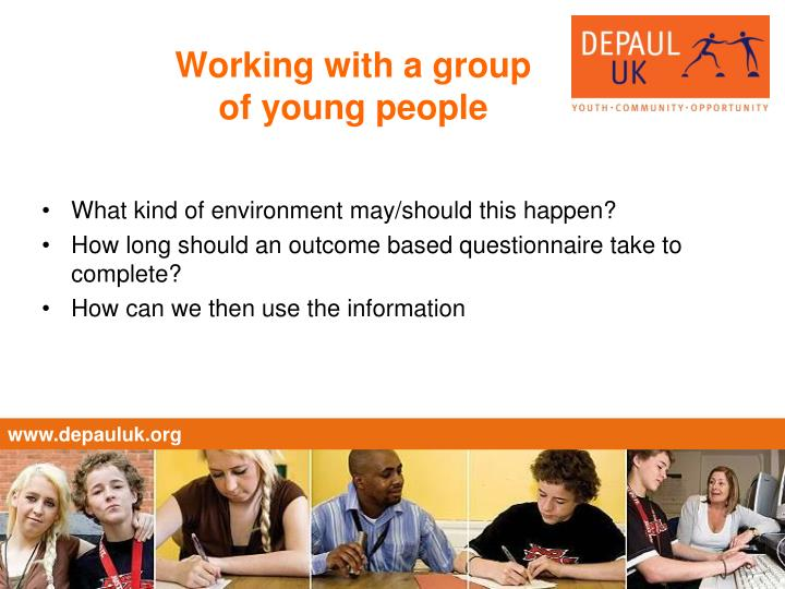 Working with a group of young people