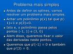 problema mais simples