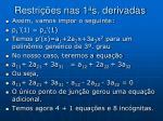 restri es nas 1 a s derivadas