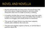 novel and novella