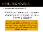 novel and novella1