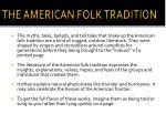 the american folk tradition