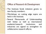 office of research development2