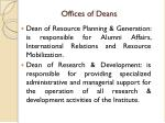 offices of deans
