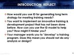 introduction reflect