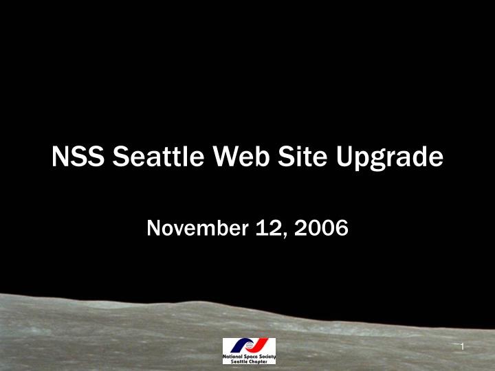 nss seattle web site upgrade n.
