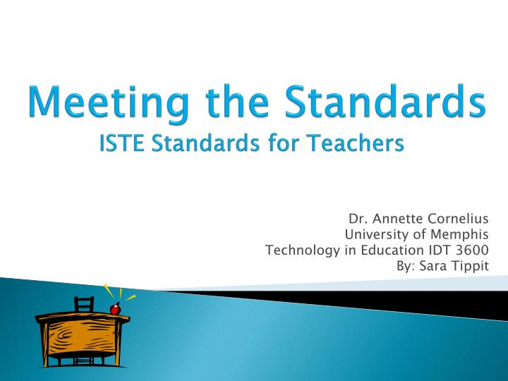meeting the standards iste standards for teachers n.