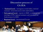 discussion process of ca iea