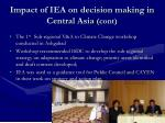 impact of iea on decision making in central asia cont1