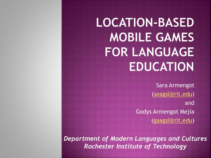 location based mobile games for language education n.