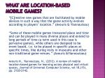 what are location based mobile games