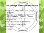 the mosjt focussed response