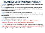 bambini vegetariani e vegani