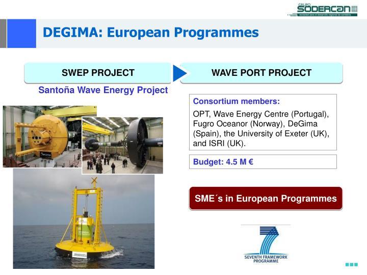 DEGIMA: European Programmes