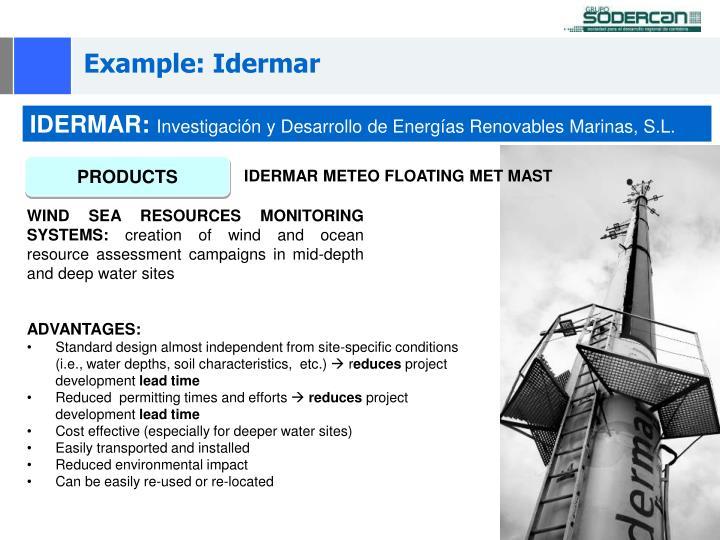 Example: Idermar