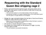 requeening with the standard queen bee shipping cage 2