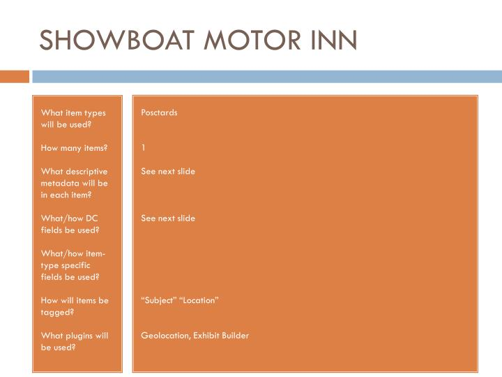 SHOWBOAT MOTOR INN