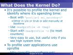 what does the kernel do