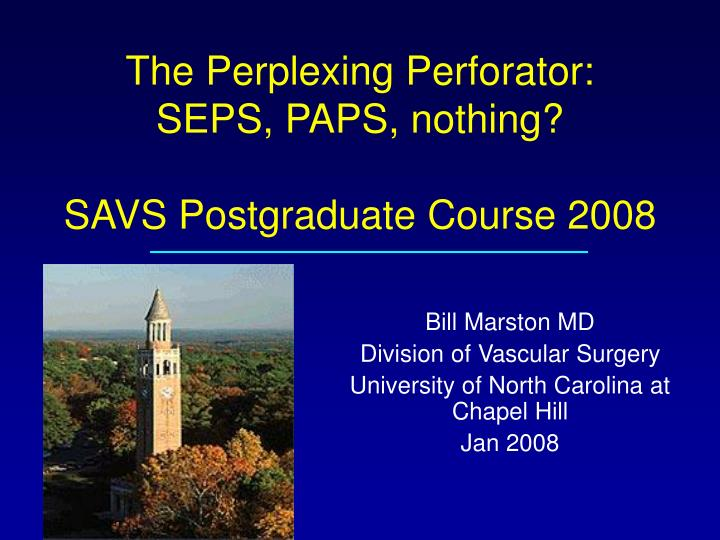 the perplexing perforator seps paps nothing savs postgraduate course 2008 n.