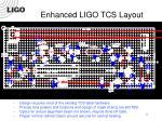 enhanced ligo tcs layout