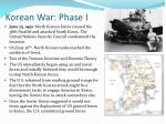korean war phase i