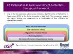 eis participation in local government authorities conceptual framework