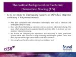theoretical background on electronic information sharing eis