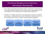 theoretical background on electronic information sharing eis1