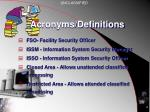 acronyms definitions