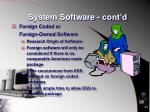 system software cont d1