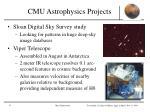 cmu astrophysics projects