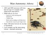 mars autonomy athena