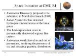 space initiative at cmu ri