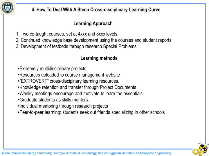 4. How To Deal With A Steep Cross-disciplinary Learning Curve