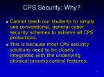 cps security why