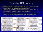 develop bs course