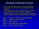 develop graduate course