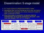 dissemination 5 stage model