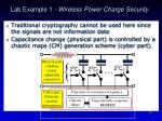 lab example 1 wireless power charge security